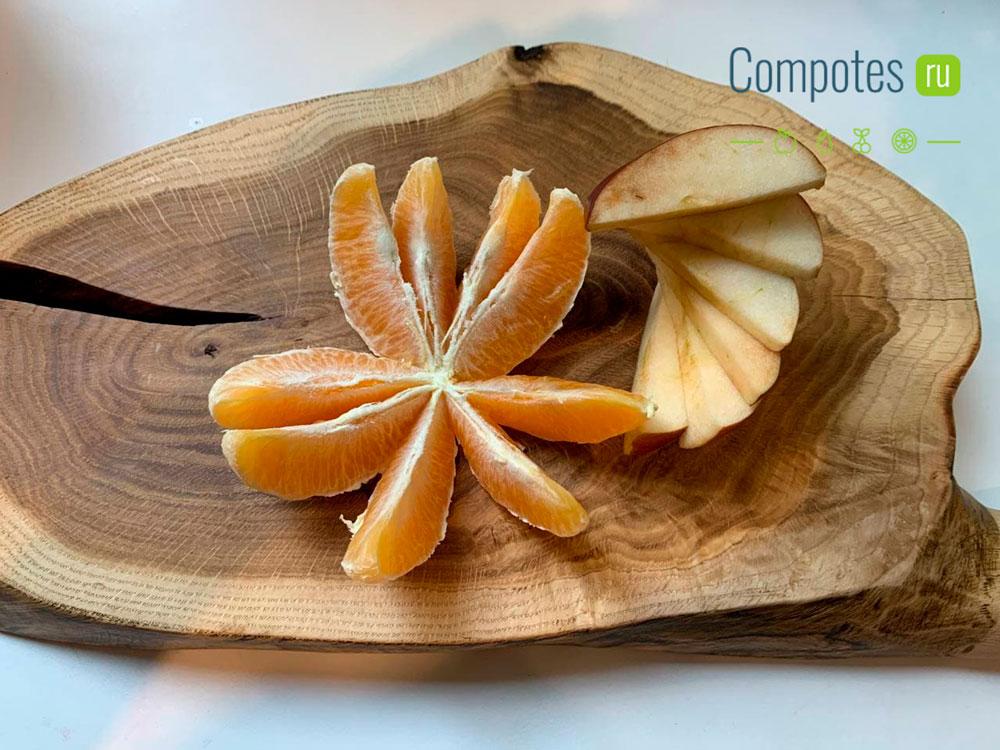 Яблоко и апельсин для компота