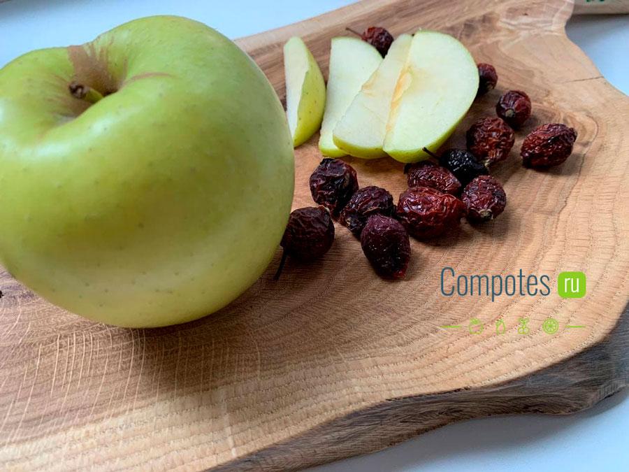 Яблоко с шиповником